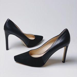 BANANA REPUBLIC Leather & Suede Black Pumps 7.5